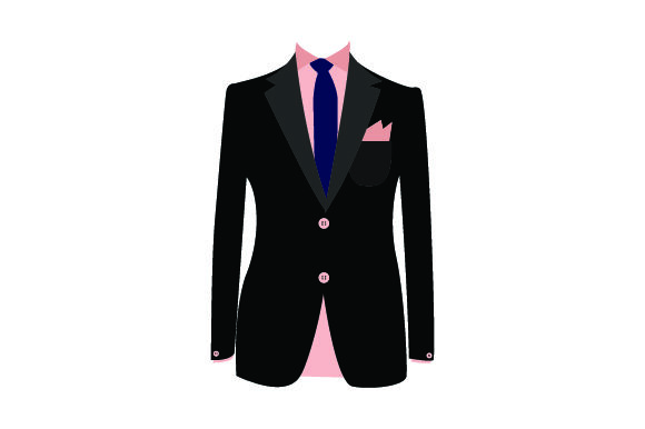 Download Free Suit Coat Front With Shirt And Tie Svg Cut File By Creative SVG Cut Files