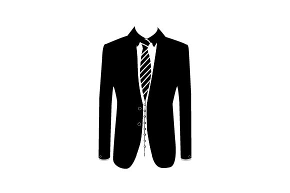 Suit Coat Front with Shirt and Tie Craft Design By Creative Fabrica Crafts Image 2