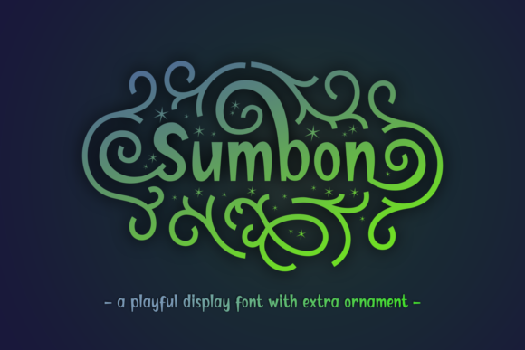 Print on Demand: Sumbon Display Font By Dani (7NTypes)