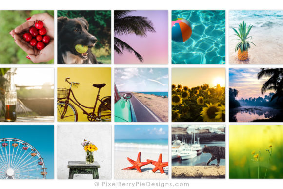 Print on Demand: Summer Beach Vacation Instagram Photos Graphic Graphic Templates By Pixel Berry Pie Designs - Image 2