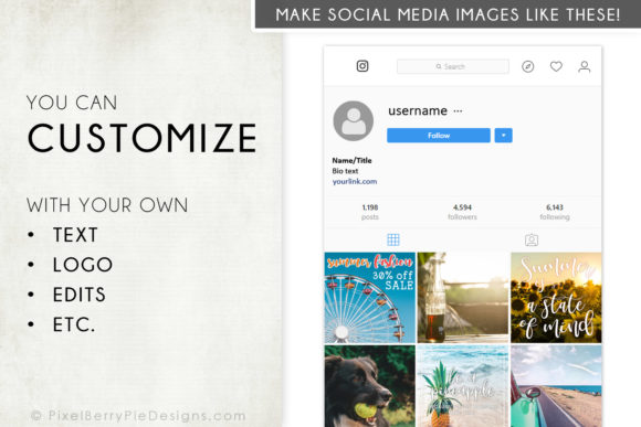 Print on Demand: Summer Beach Vacation Instagram Photos Graphic Graphic Templates By Pixel Berry Pie Designs - Image 3