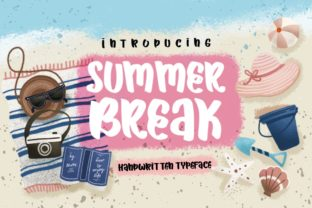 Summer Break Script & Handwritten Font By Caoca Studios