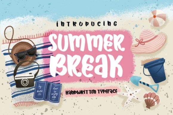 Print on Demand: Summer Break Script & Handwritten Font By Caoca Studios