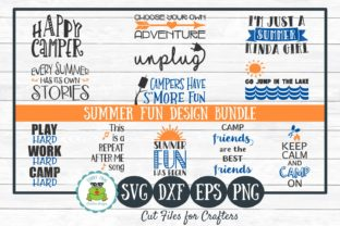 Download Free Summer Fun Design Bundle Graphic By Funkyfrogcreativedesigns for Cricut Explore, Silhouette and other cutting machines.