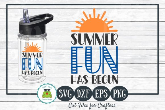 Download Free Summer Fun Has Begun Graphic By Funkyfrogcreativedesigns for Cricut Explore, Silhouette and other cutting machines.