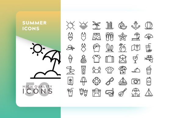 Summer Icon Graphic Icons By Goodware.Std