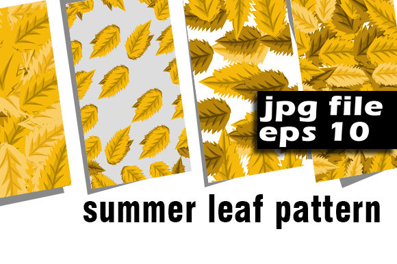 Summer Leaf Pattern Graphic Patterns By ahmaddesign99