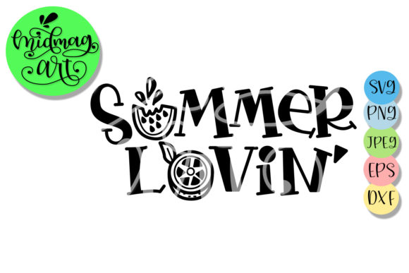 Download Free Summer Lovin Summer Graphic By Midmagart Creative Fabrica for Cricut Explore, Silhouette and other cutting machines.