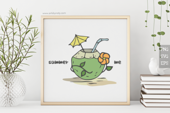 Print on Demand: Summer Me with Coconut SVG Illustration Graphic Crafts By artsbynaty - Image 4