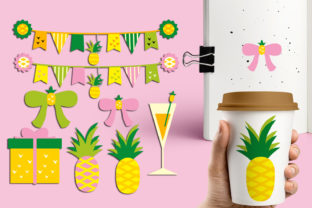 Download Free Summer Pineapple Party Graphic By Revidevi Creative Fabrica for Cricut Explore, Silhouette and other cutting machines.