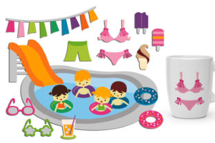 Summer Pool Party Graphic By Revidevi