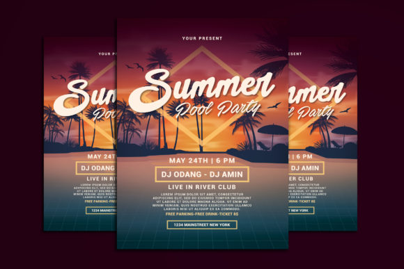 Download Free Summer Pool Party Grafico Por Muhamadiqbalhidayat Creative Fabrica for Cricut Explore, Silhouette and other cutting machines.