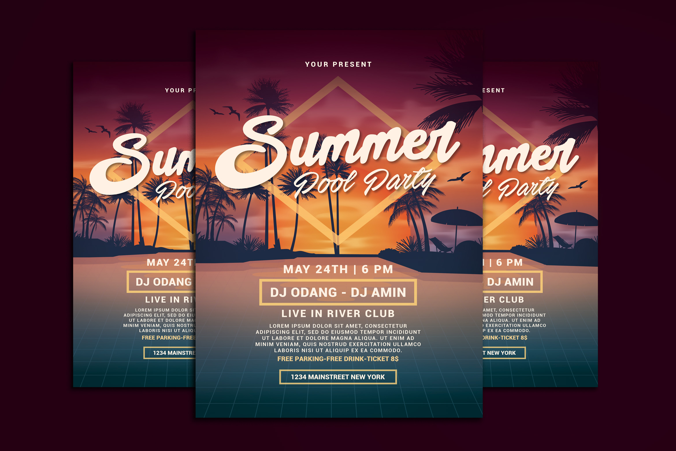 Download Free Summer Pool Party Graphic By Muhamadiqbalhidayat Creative Fabrica for Cricut Explore, Silhouette and other cutting machines.