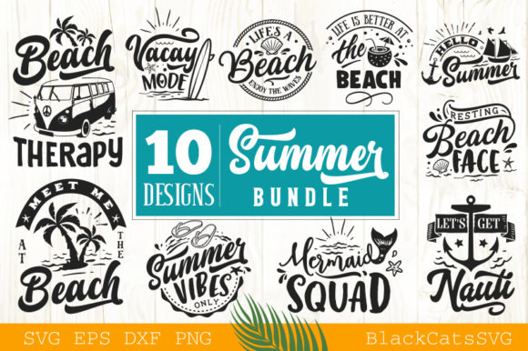 Summer SVG Bundle Vol 1 Graphic Crafts By BlackCatsMedia - Image 1