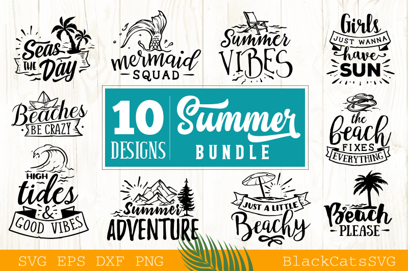 Download Free Summer Bundle Vol 2 Graphic By Blackcatsmedia Creative Fabrica for Cricut Explore, Silhouette and other cutting machines.