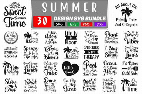 Summer Svg Bundle Graphic Crafts By Handmade studio - Image 1
