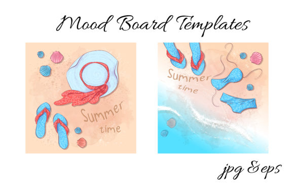 Summer Time Vector Clip Art Graphic By nicjulia Image 2