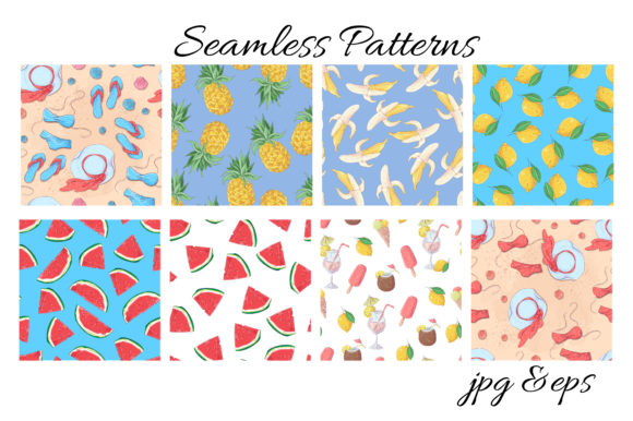 Summer Time Vector Clip Art Graphic By nicjulia Image 13