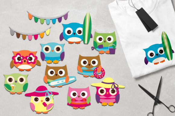 Print on Demand: Summer Owls Graphic Illustrations By Revidevi