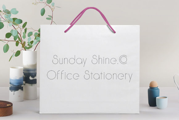 Print on Demand: Sunday Shine Thin Sans Serif Font By Dasagani - Image 3