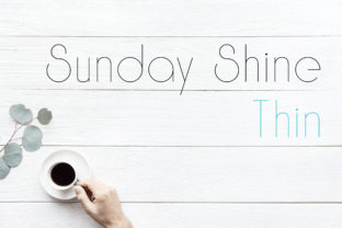 Print on Demand: Sunday Shine Thin Sans Serif Fuente Por Dasagani