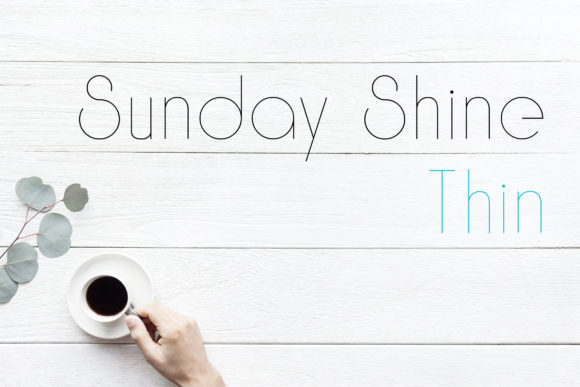 Print on Demand: Sunday Shine Thin Sans Serif Font By Dasagani - Image 1