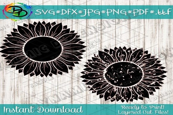 Download Free Sunflower Svg Flower Svg Monogram Svg Graphic By for Cricut Explore, Silhouette and other cutting machines.