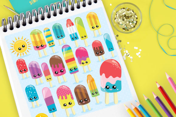 Print on Demand: Sunny Ice Popsicle Graphic Illustrations By Prettygrafik