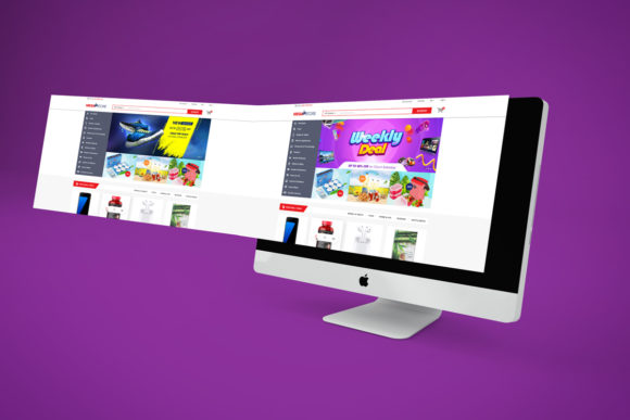 Print on Demand: Super Market ECommerce - PSD Template V1 Graphic Websites By PakpahanMarg