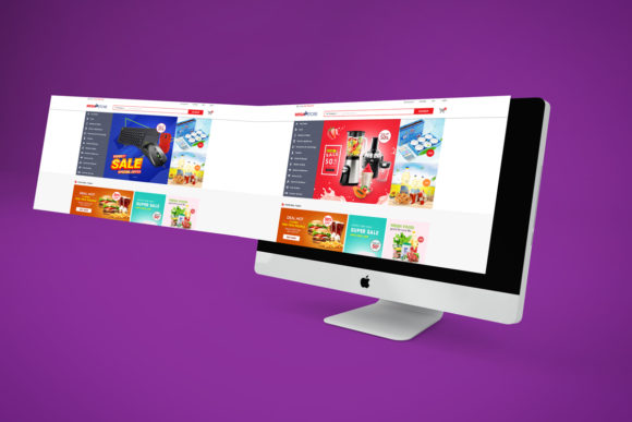 Print on Demand: Super Market ECommerce PSD Template V2 Grafik Webseiten von PakpahanMarg