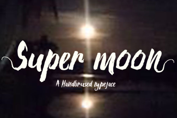 Print on Demand: Super Moon Script & Handwritten Font By Microcreative