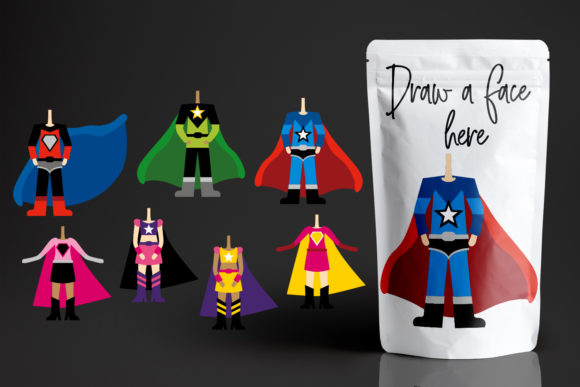 Print on Demand: Superhero Body Graphic Illustrations By Revidevi - Image 1