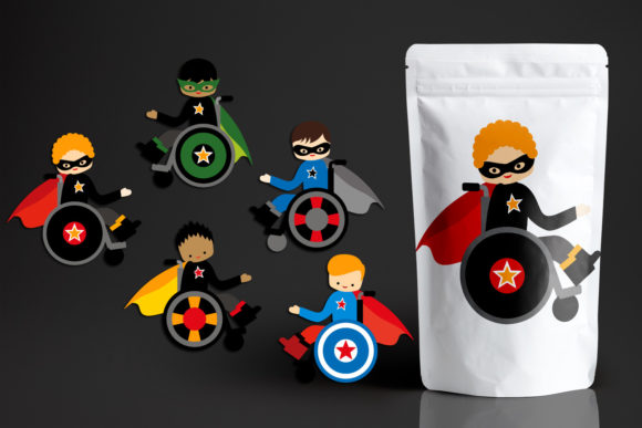 Download Free Superhero Boys In Wheelchairs Graphic By Revidevi Creative Fabrica for Cricut Explore, Silhouette and other cutting machines.