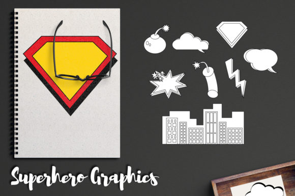 Print on Demand: Superhero Comic Book Graphics Graphic Illustrations By Revidevi - Image 2