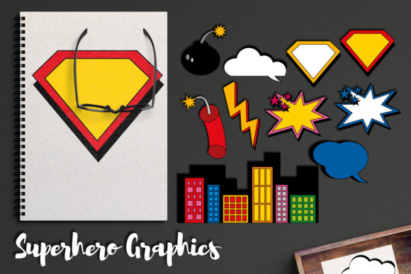 Print on Demand: Superhero Comic Book Graphics Graphic Illustrations By Revidevi