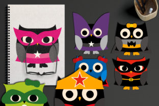 Download Free Superhero Girl Owls Graphic By Revidevi Creative Fabrica for Cricut Explore, Silhouette and other cutting machines.