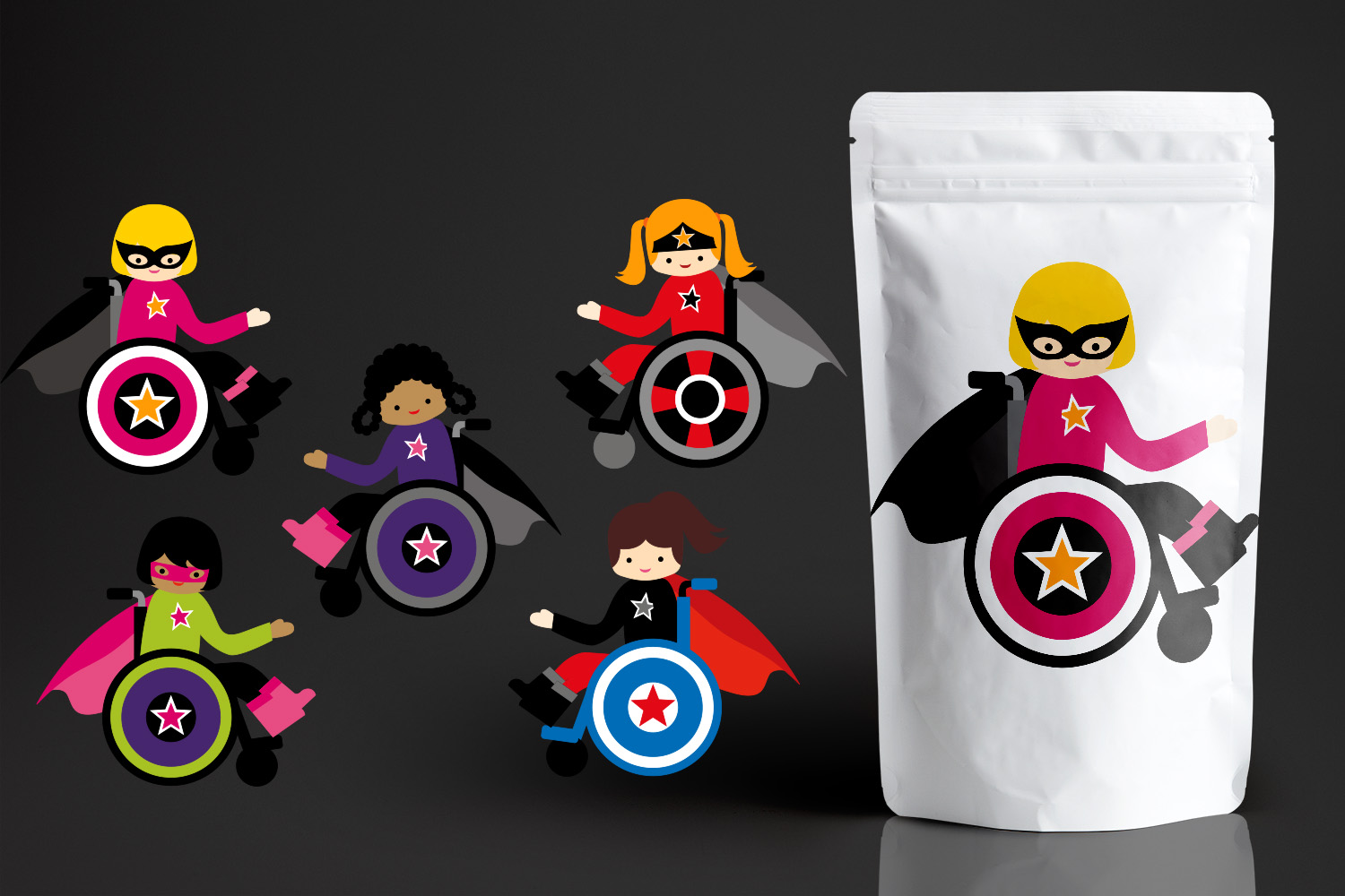 Download Free Superhero Girl In Wheelchair Graphic By Revidevi Creative Fabrica for Cricut Explore, Silhouette and other cutting machines.