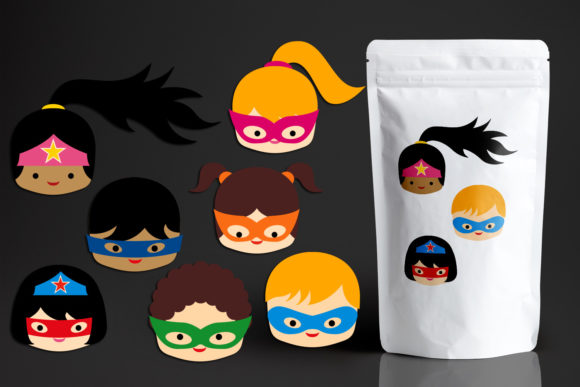 Download Free Superhero Head Graphic By Revidevi Creative Fabrica for Cricut Explore, Silhouette and other cutting machines.