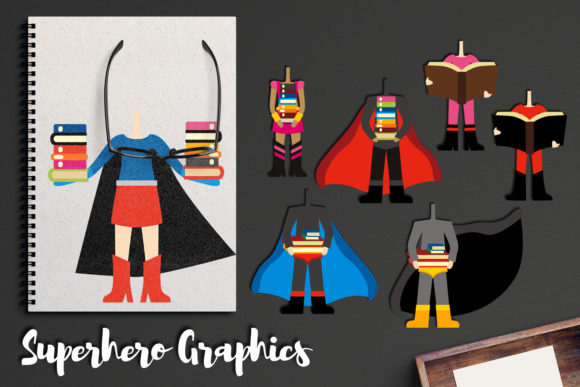 Print on Demand: Superhero Bodies Hold Books Graphic Illustrations By Revidevi