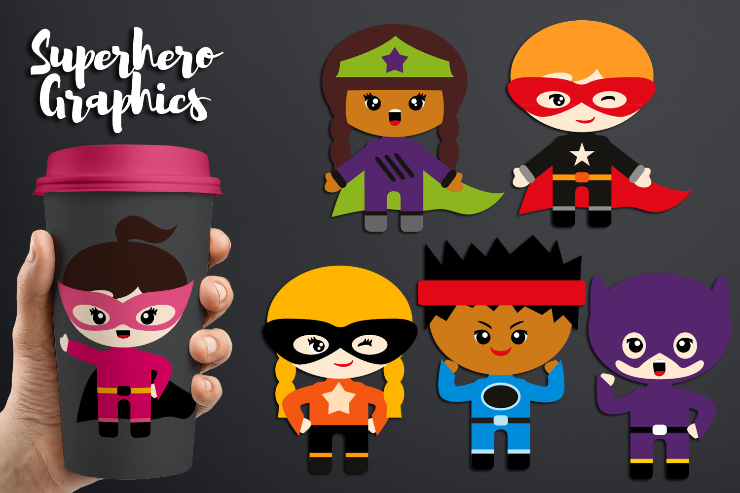 Download Free Superhero Graphic By Revidevi Creative Fabrica SVG Cut Files