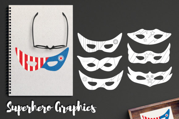 Download Free Superhero Masks Graphic By Revidevi Creative Fabrica for Cricut Explore, Silhouette and other cutting machines.
