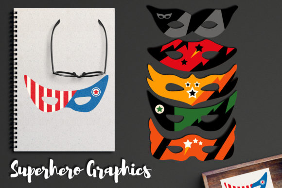 Print on Demand: Superhero Masks Graphic Illustrations By Revidevi