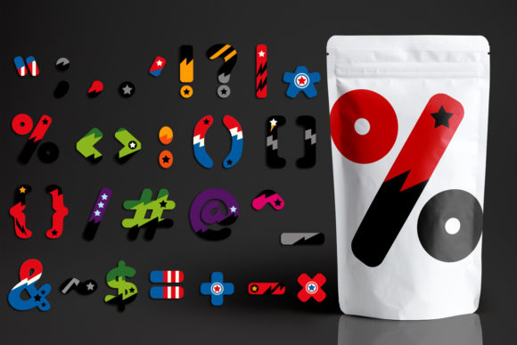 Download Free Superhero Punctuation Graphic By Revidevi Creative Fabrica for Cricut Explore, Silhouette and other cutting machines.