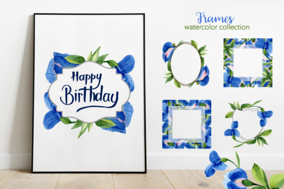 Print on Demand: Sweet Pea Flowers Watercolor Png Graphic Illustrations By MyStocks - Image 2