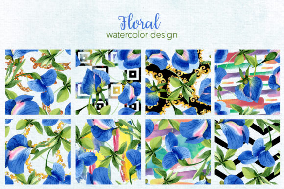 Print on Demand: Sweet Pea Flowers Watercolor Png Graphic Illustrations By MyStocks - Image 5