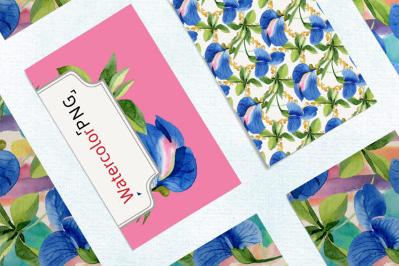 Print on Demand: Sweet Pea Flowers Watercolor Png Graphic Illustrations By MyStocks - Image 8