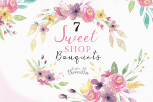 Sweet Shop Bouquets Flowers Floral Set Graphic By Bloomella