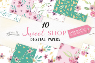 Sweet Shop Flowers Patterns Watercolor Graphic By Bloomella