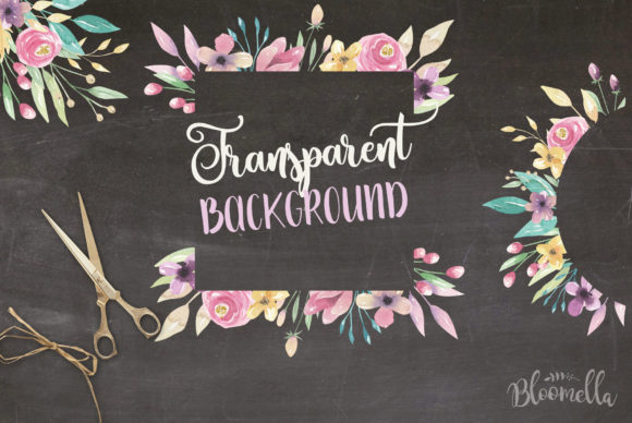 Sweet Shop Frames Floral Watercolor Set Graphic By Bloomella Image 2