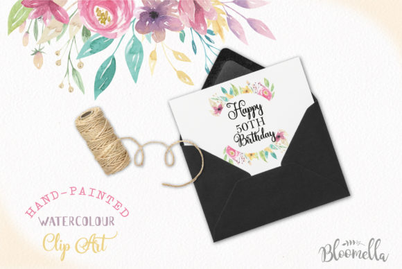 Sweet Shop Frames Floral Watercolor Set Graphic By Bloomella Image 5